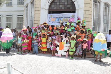 The students with their Easter-themed hats after the parade (Photo by Arian Browne)