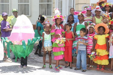 Not the usual Easter hat (at left) (Photo by Arian Browne)
