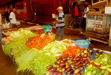 The city's municipal markets were awash with fresh fruits and vegetables this week