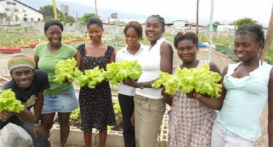 Haitian girls who benefited from Jacobs training