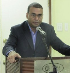Minister of Natural Resources Robert Persaud