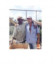 Friends, Waygan Ross (left) and Roger Mohan