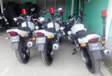 Some of the motorcycles purchased for the police