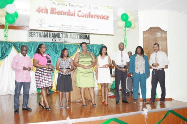Teachers from across the country who were last evening honoured with tokens by the Guyana Teacher's Union for their outstanding work.