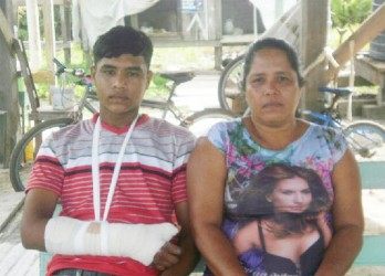 Dhanniram Rodrigues and his mother
