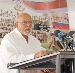 President Donald Ramotar addressing the conference