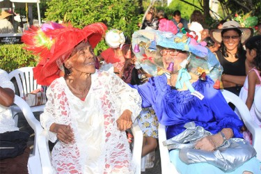 These lovely elderly ladies were spotted with their Easter Hats at last year's show at the Promenade Gardens.