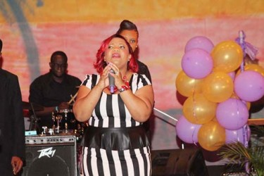 Gospel Artiste Renee Winter performing at the album launch. (Photo by James Gulliver)