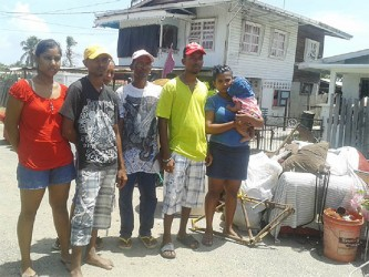 The family members: Daveanand Basdeo and his family claimed that they were unlawfully  evicted from the home they occupied for 14 years by policemen.