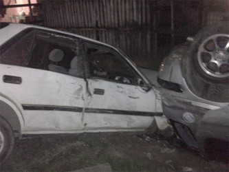 The collision of PLL 4632 with the parked car