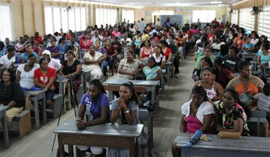 Parents at Rosignol Secondary School