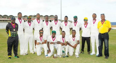 The victorious Jamaica side. (Photo courtesy of WICB media)