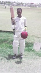 Joshua Persaud's century was enough to take GNIC to the semi-finals of the GCA Brainstreet under-15 League.