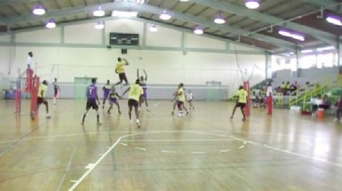 Action from this year's Trinidad & Tobago Volleyball Federation (TTVF) Caribbean Club Championship held in Trinidad recently.