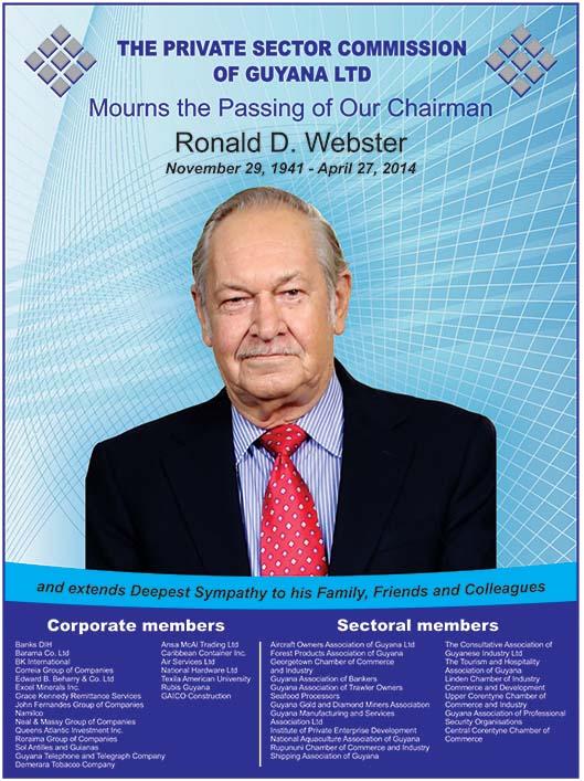 Ronald D Webster