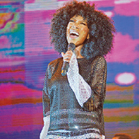 Renowned artiste Brandy during her performance on World Music Night at the Tobago Jazz Experience 2014 on Friday at Pigeon Point Heritage Park, Tobago.