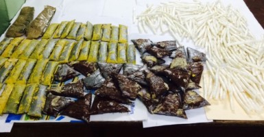 Cocaine in pastries allegedly found in the defendant's suitcase.