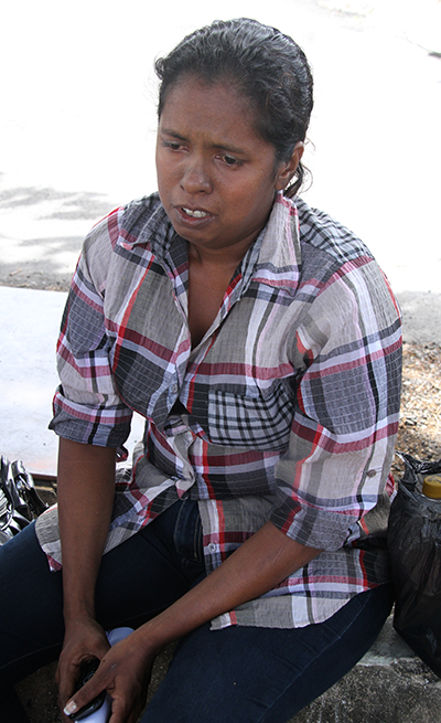 Vidya Bachu recalls how her husband died outside the San Fernando General Hospital's mortuary yesterday.