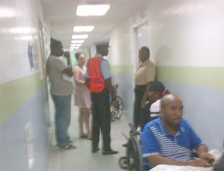 Police question the Chinese national who accompanied the injured to the hospital