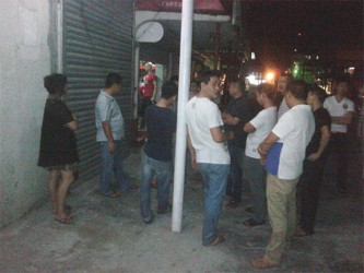 Several friends and relatives of the injured assembled in front of the scene of the crime moments after it occurred