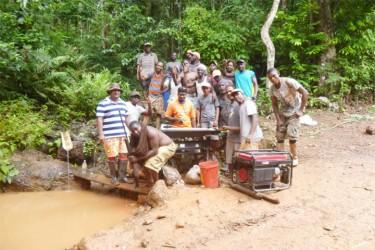 Gold miners at Quartz Hill