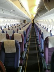 The interior of the aircraft.