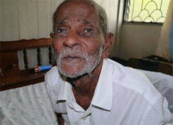 Oldest resident,  Ramlochan Bissoon