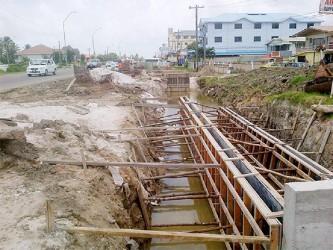Work was underway when Stabroek News visited this site in Le Ressouvenir, East Coast Demerara (ECD) recently