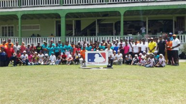 Participants of the Guyana Baseball League (GBL) Easter Camp held at the Georgetown Cricket Club (GCC) ground this past weekend.