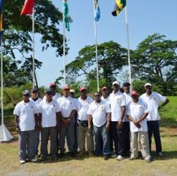 The Guyana rifleshooting team at yesterday's opening ceremony.
