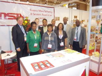 Visitors to the Guyana booth at a 2011 Toronto Trade Fair