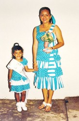 Maritza and Roxanne Lord in 1990 after winning the Junior Category of the first Mother and Daughter Pageant