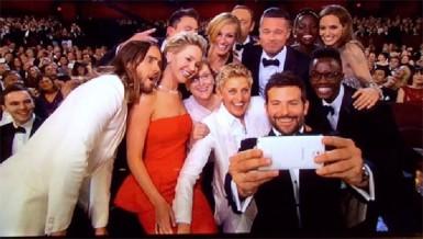Ellen De Generes's famous Oscars selfie