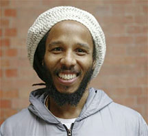 Musician Ziggy Marley poses for a portrait ahead of his headline show in London, in support of his 5th album 'Fly Rasta', April 23, 2014. (Reuters/ Matilda Egere-Cooper)