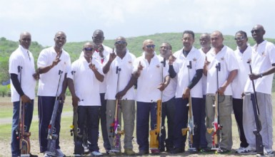 Undisputed Caribbean  champs. The victorious Guyana rifle shooting team which added the short range title yesterday to the long range title they won on Friday.  (Story and photo courtesy of Troy Peters of the GNRA)