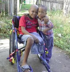 Javier with his brother Javaughn