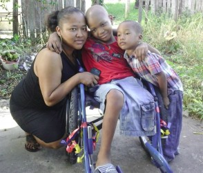Javier with his mom Lizanna and three year old brother Javaughn.