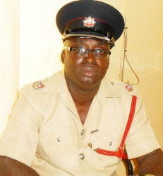 Officer-in-Charge of Guyana Fire Service 'B' Division, Superintendent Compton Sparman
