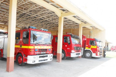 New Amsterdam Fire Station's fleet of fire engines
