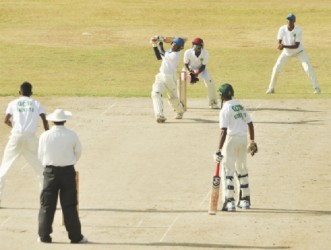 Essequibo opener Avinash Persaud scored 60 in vain yesterday.