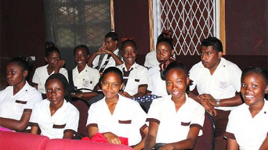 Students of  Tutorial High School at the CAPE Agri Science launch