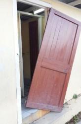 The broken door