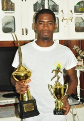 Cleveland Forde with trophies