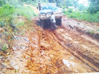 The eroded Mahdia access road