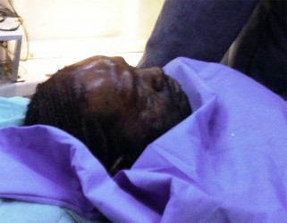 A wounded Kwame Bhagwandin