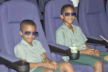 These young patrons were among the first moviegoers to be experience Princess Fun City's 3D Digital Movie Theatres, which were launched yesterday to mark the first anniversary of the venture.