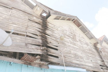 Part of the exterior of the Stabroek Market Wharf