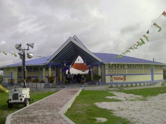 A front view of the new Tuschen Nursery School