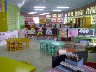 A classroom in the new Tuschen Nursery School