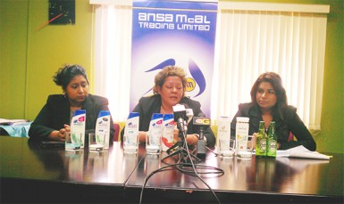 (From left) Divisional Manager of Proctor and Gamble Nafeeza Chand, Managing Director of ANSA McAL Trading Beverly Harper and ANSA McAL Trading Public Relations Officer Darshanie Yussuf